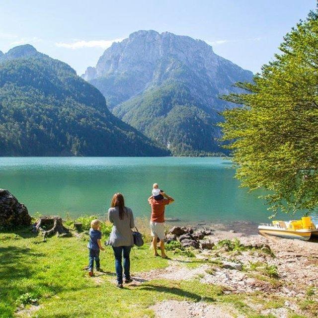 Der Lago del Predil an der sich als der idealehellip