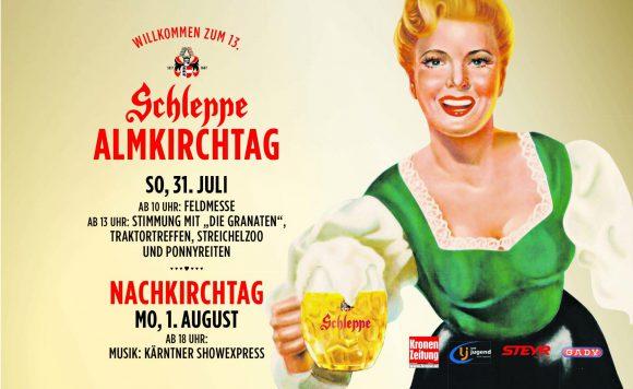 Gelebtes Brauchtum, ein umfangreiches Rahmenprogramm und ein einzigartiger Ausblick über die Landeshauptstadt Klagenfurt - all dies erwartet die Besucher beim 13. Schleppe Almkirchtag auf der Schleppe Alm Klagenfurt.