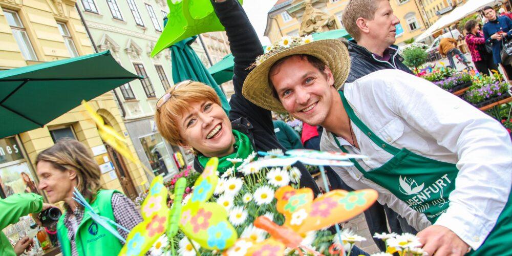 Klagenfurter Blumenmarkt: Treffpunkt Alter Platz
