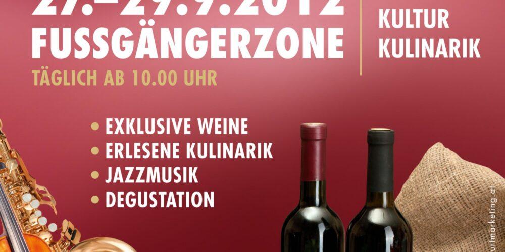 Klagenfurter Weinfest in der Fussgängerzone