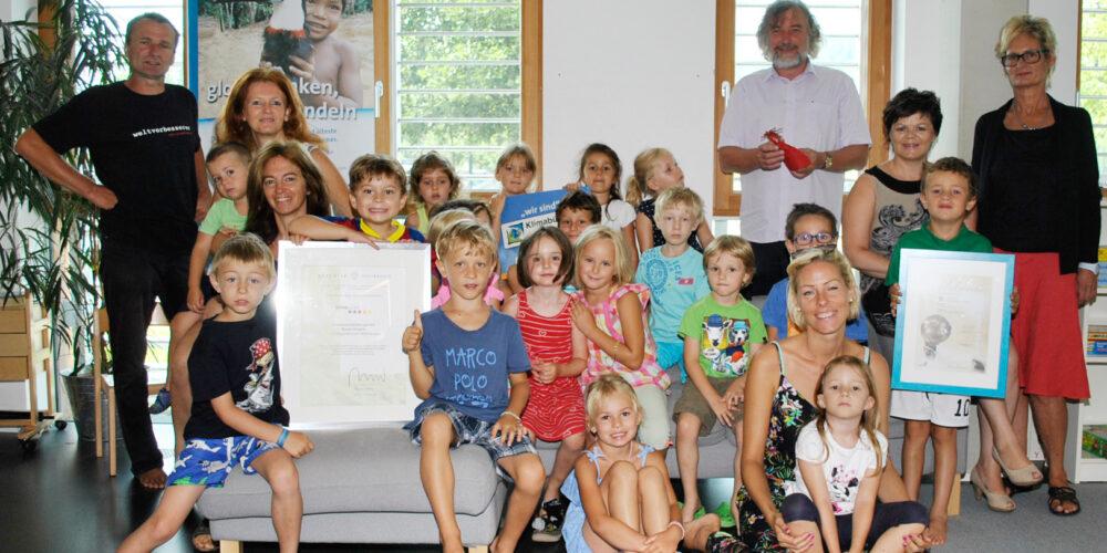 """Auszeichnung für Kindergarten """"Bunte Knöpfe"""""""