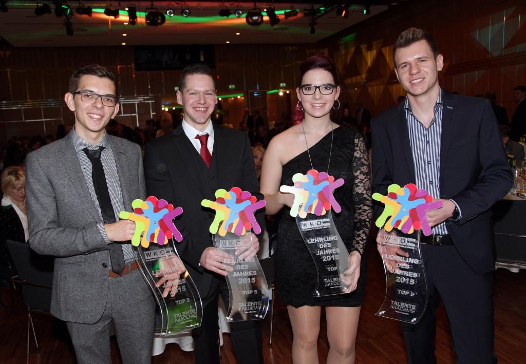 Die Nominierten: Markus Plautz, Christian Gwenger, Vanessa Rauter und Julian Krug (v.l.n.r.). Foto: Daniel Raunig
