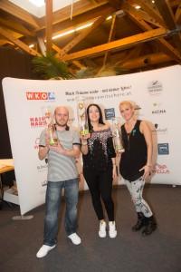 Rose_Herren: Peter Wright, Aldina Mukovic, Lisa Neuwirth (v.l.n.r.)