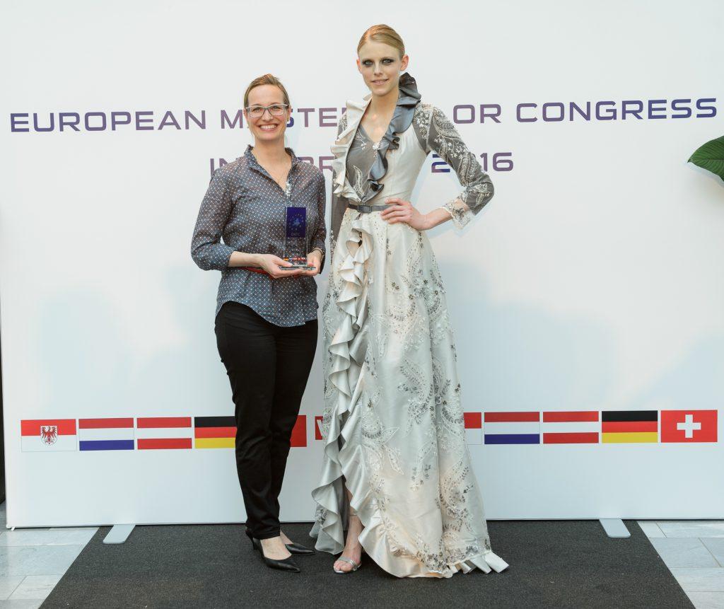 Die Kärntnerin Birgit Moser vertrat mit ihrem zauberhaften Kleid Österreich bei den Vergleichsmodellen.