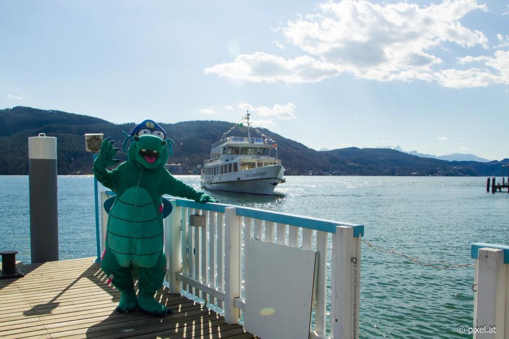 Das Maskottchen der Wörthersee Schifffahrt: Nauti! Foto: pixelpoint multimedia