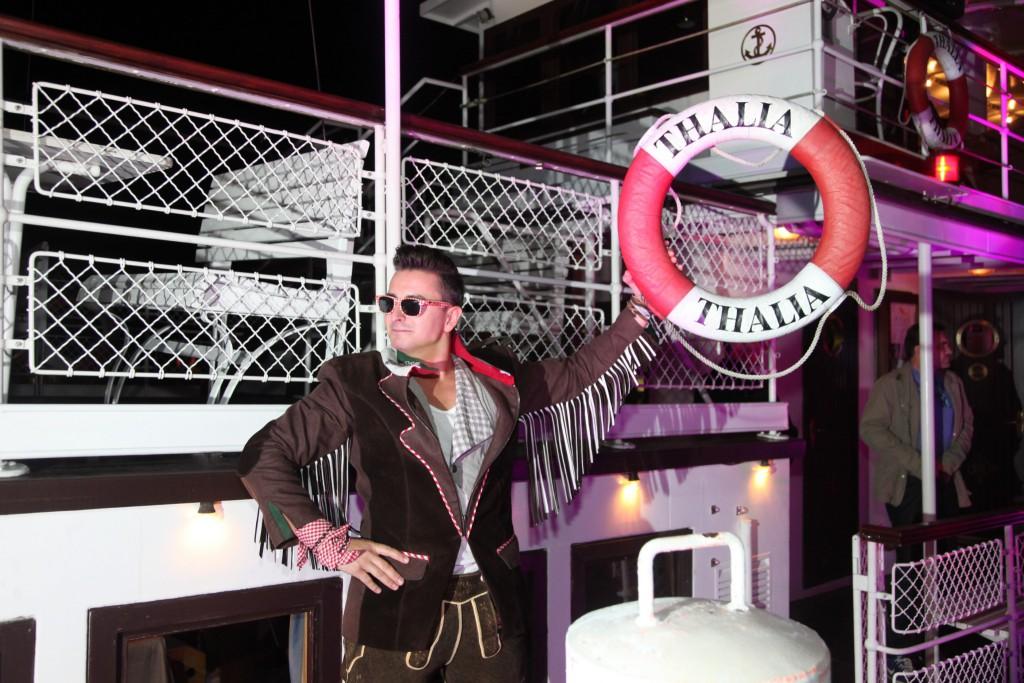 Volks-Rock'n'Roller Andreas Gabalier an Bord der Wörthersee Schifffahrt. Foto: Starnacht/Peter Krivograd