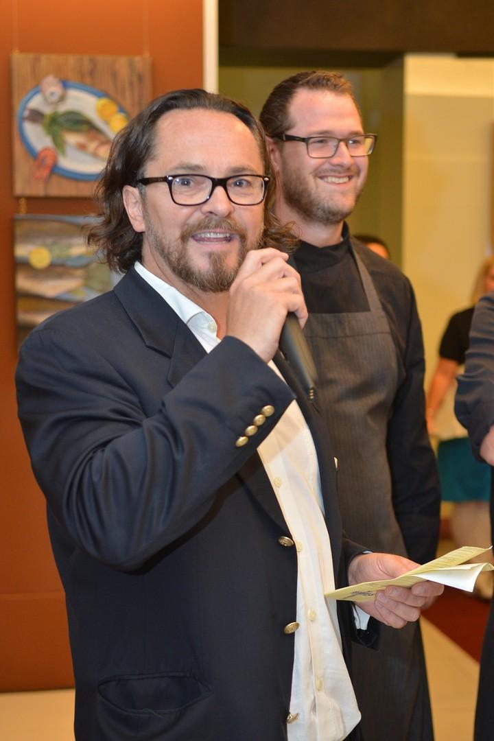 Barnie Strasser und Spitzenkoch Ingo Piffl. Foto Nicolas Zangerle