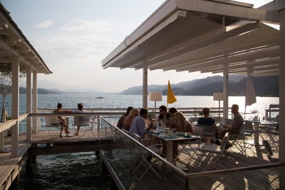 Zu Gast in Werzer's Beach Club Restaurant in Pörtschach. Foto: pixelpoint/Zangerle