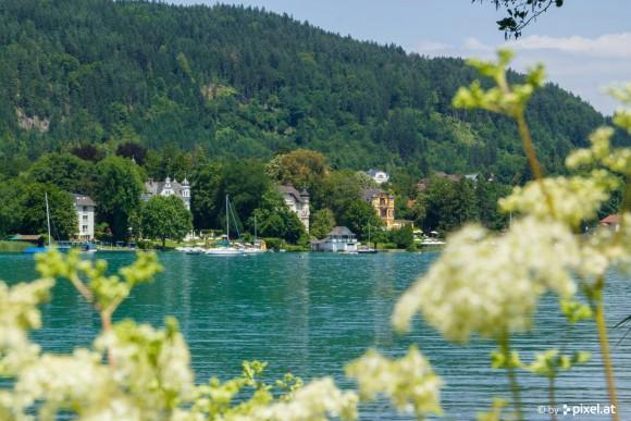 Blick von der Halbinsel in Pörtschach. Foto: pixelpoint/Handler