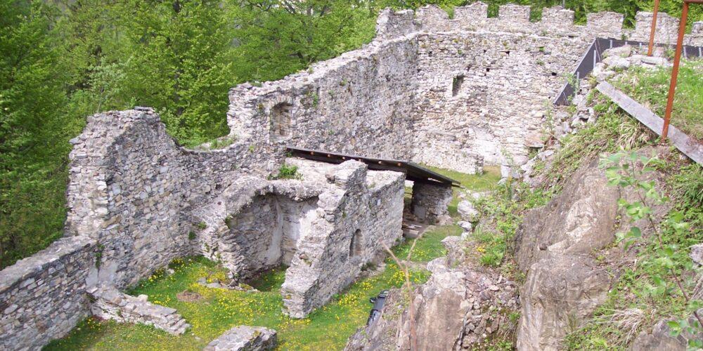 Auf der Burgruine Leonstein wird Geschichte lebendig