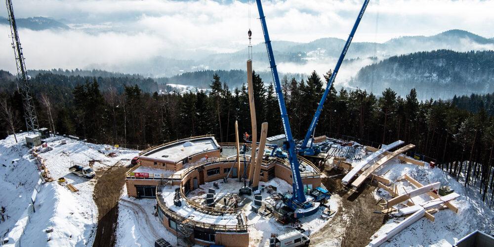 Pyramidenkogel: Neubau schreitet voran