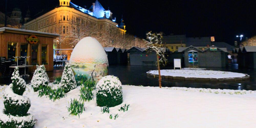 Ostermarkt 2013: Start im Schnee