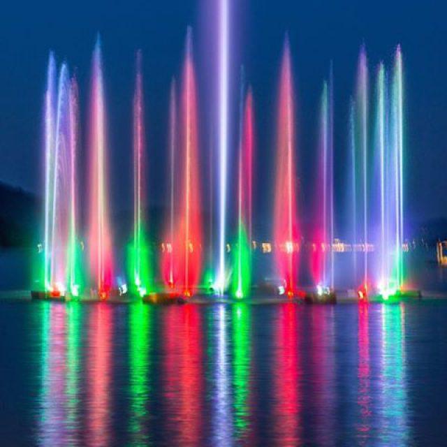 Turn on the lights Wasserspiele in Velden am Wrthersee nighthellip