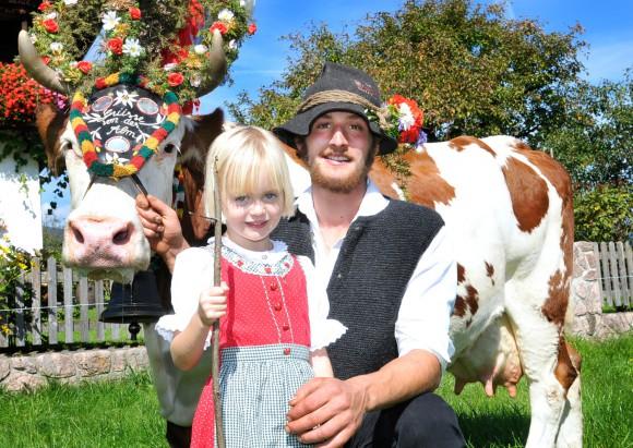 Die Heimkehr von der Alm wird in Reith im Alpbachtal am 22. und 29. September 2012 gefeiert. Fotograf: Grießenböck