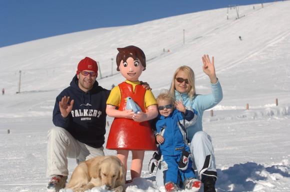 Das Heidi-Hotel Falkertsee präsentiert: Heidi's heile Ski-Welt auf 1.886 m - ideal für Familien mit Kindern, die sicher und abseits der Skifahrermassen Skifahren oder Snowboarden lernen wollen