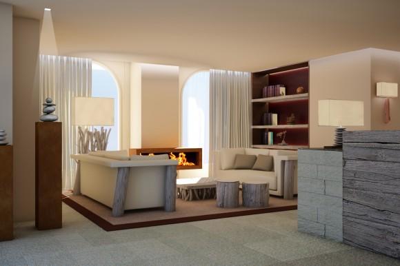 Kurhaus Cademario Hotel & Spa - Spa Empfangsbereich.