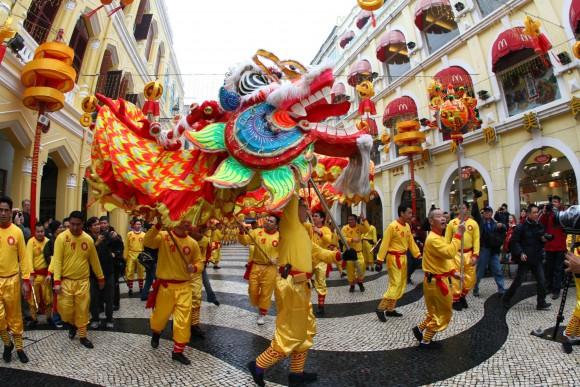 Macau begrüßt das neue Jahr