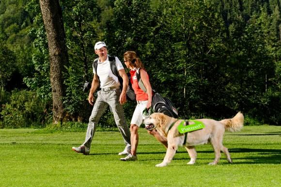 Platzreife mit Hund im Salzburger Land.