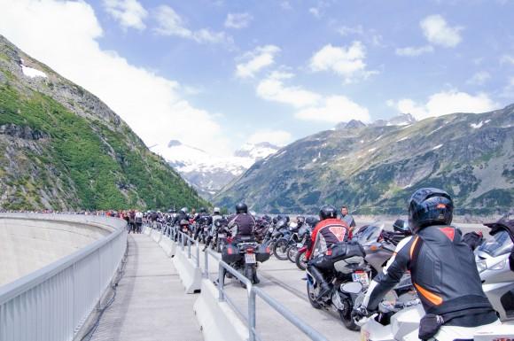 Motorradsegnung auf der Kölnbreinsperre 2013.