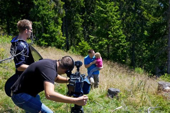 Filmdreh bei einer Kräuterwanderung auf der Gerlitzen. Foto: Steinthaler/Kärnten Werbung