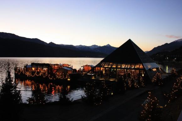 Weihnachtsterrasse im Millstätter See. Foto: Kaerntenkult