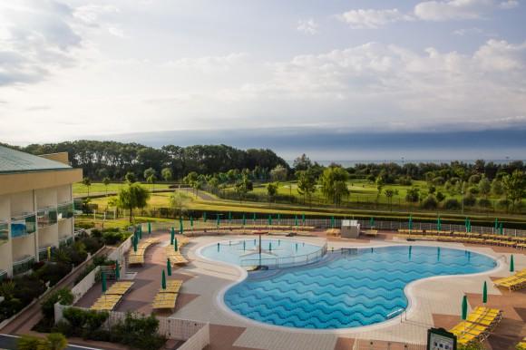 Blick vom Balkon. Hotel Maregolf. Foto: pixel.at