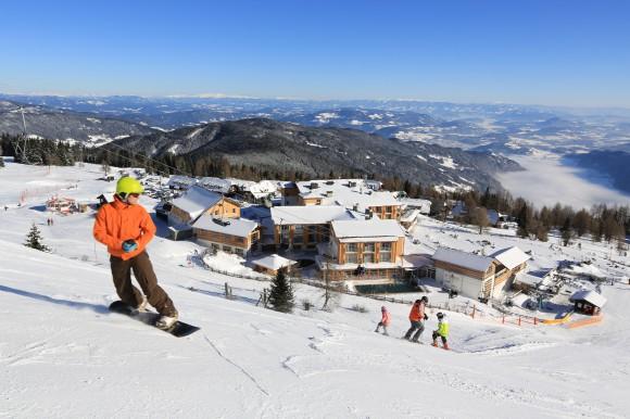 Das Mountain Resort Feuerberg auf 1.766 m auf der Gerlitzen Alpe in Kärnten