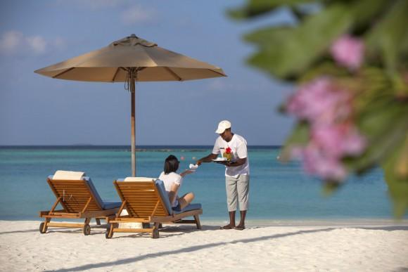 Auf The Sun Siyam Iru Fushi buchen Gäste ihren Aufenthalt im Paradies