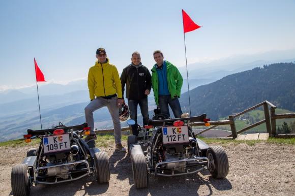 Kart-Tour zum Gipfelhaus am Magdalensberg. Foto: pixelpoint