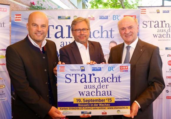 Martin Ramusch, Alexander Wrabetz und LH Erwin Pröll; © ipmedia/krivograd