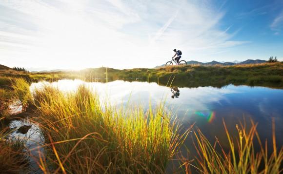 Mountainbiken in Saalbach Hinterglemm. Foto: Der Löwe/Daniel Roos