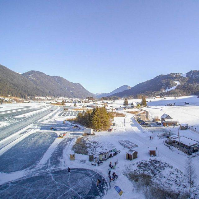 Groartig Winterzauber am Weiensee! weissensee skate carinthia ice krnten visitaustriahellip