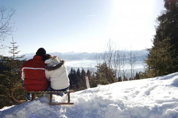Den Schnee am Millstätter See genießen. Foto: KK/Steve Haider