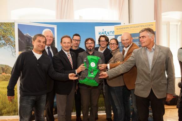 Pressekonferenz Alpe-Adria-Trail. Saisonbilanz. Foto: Nicolas Zangerle