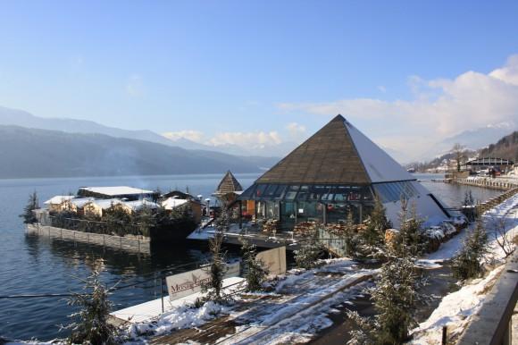 Die schwimmende Weihnachtsterrasse am Millstätter See, das Kap 4613