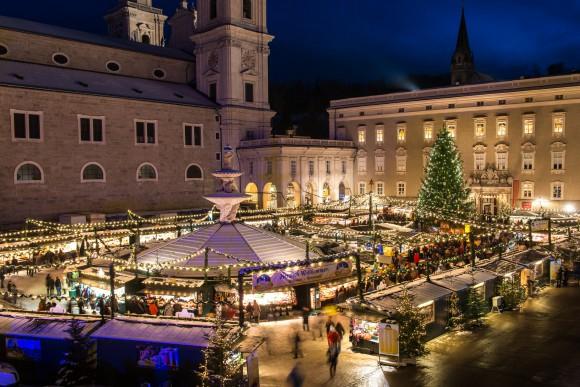 Christkindlmarkt Stadt Salzburg, Residenzplatz. Foto: SalzburgerLand/Günter Breitegger