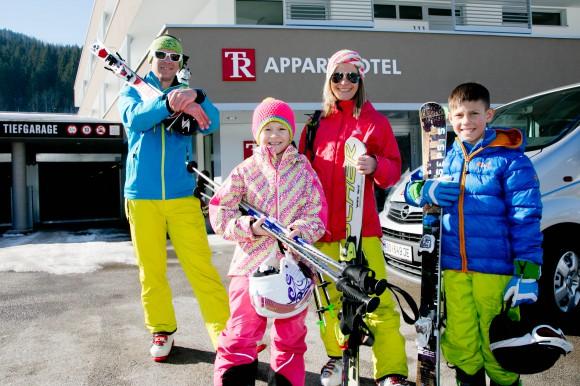 Familie im Golf- & Skiresort Tauernresidence in Radstadt