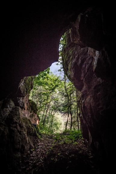 Blick aus der sogenannten Römerhöhle
