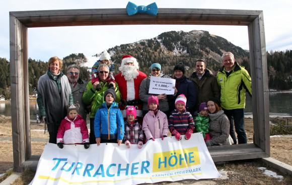 Der Wetterlös von je 1.000 Euro wird an den Kindergarten auf der steirischen und auf der Kärntner Seite gespendet. Foto: Daniel Raunig