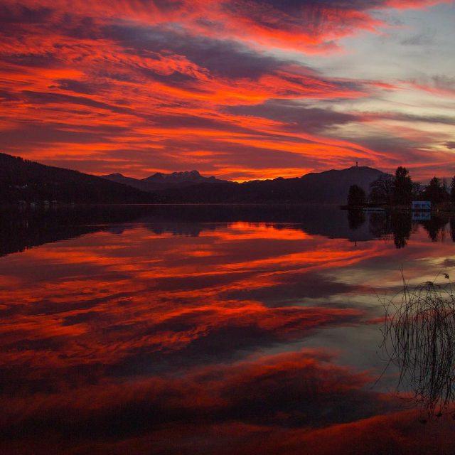 Evening  Mystic  lakelife  Wrthersee nightshot lake sceneryhellip