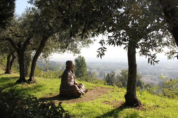 Bayerisches Pilgerbüro_Franziskusweg_Statue Franz von Assisi