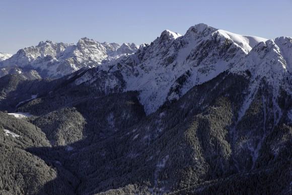 Bergpanorama der Dolomiten in der Ferienregion Kronplatz. Foto: TVB Kronplatz