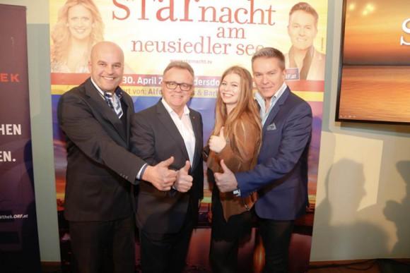 Martin Ramusch, LH Hans Niessl, Zoe, Alfons Haider; © ip media