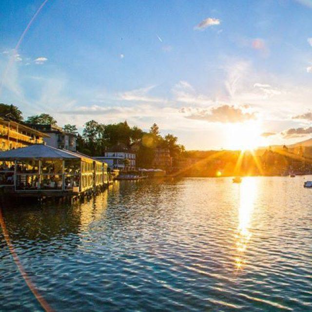 Sunset in Velden Evening  wrthersee sunset lake sun eveninghellip