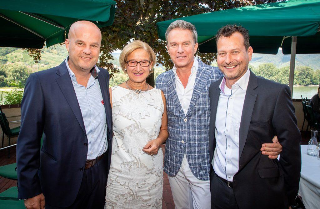 Martin Ramusch, Landeshauptfrau Johanna Mikl- Leitner, Alfons Haider, Alexander Hofer. Foto: ip|media