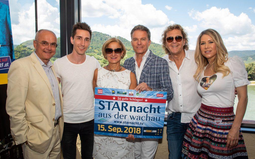 Edgar Böhm, Luke Andrews, Landeshauptfrau Johanna Mikl-Leitner, Alfons Haider, Charly Brunner, Simone. Foto: IP|Media