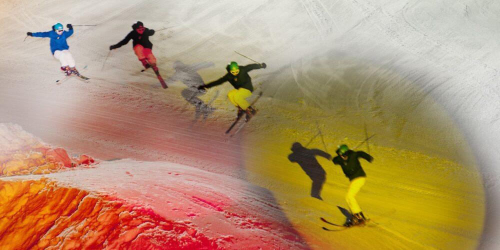 See: Erlebnis mit Feuerwerken und Skiläufer mit Fackeln heizen ein