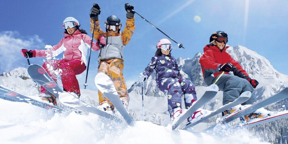 Viel Sonne und Schnee: Skifahren am Nassfeld