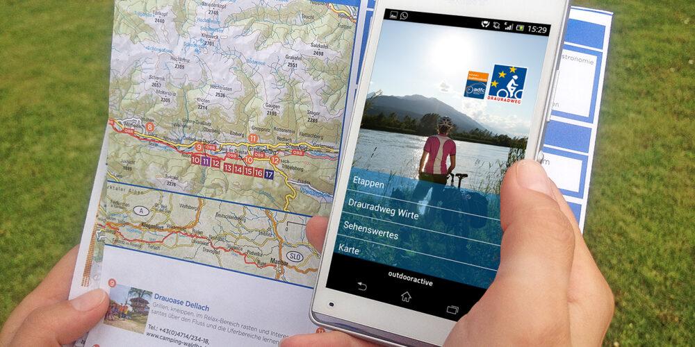 Neue App für den Drauradweg ab sofort online