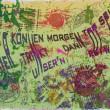 """1000&: Serigraphie """"Rotwein"""", Büttenpapier 395x575mm. Auflage: 99, April 2006; """"Wir können morgen tot sein, wer trinkt dann unser'n Rotwein"""" Foto: 1000&"""